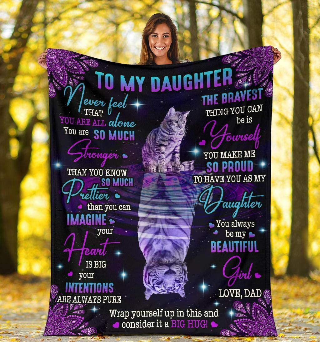 to My Max 85% OFF Daughter Blankets Gift from Tiger Beautiful Mom Super-cheap Blank Art