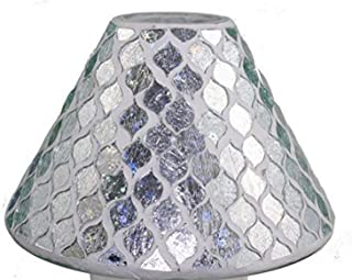 Biedermann & Sons Decorative Glass Jar Candle Shade, 6.1 x 6.6-Inches, Icicle Mosaic