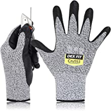 DEX FIT Level 5 Cut Resistant Gloves Cru553, 3D Comfort Stretch Fit, Power Grip Foam Nitrile, Smart Touch, Durable Thin & ...