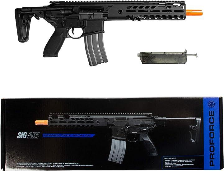 Fucile da softair d`assalto a batteria - semiautomatico sig sauer ufficiale AIR-PF-MCXAEG