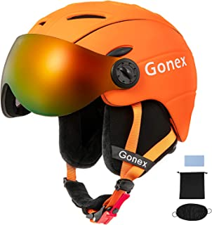 Gonex Ski Helmet with Goggles - ASTM Certified Safety - Winter Windproof Skiing Snowboard Snow Helmet for Men, Women, Youth - Accessories Included - S/M/L/XL Size