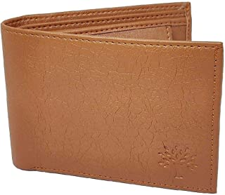 wood-land Wallet for Mens Brown Leather Regular Purse tan (8)