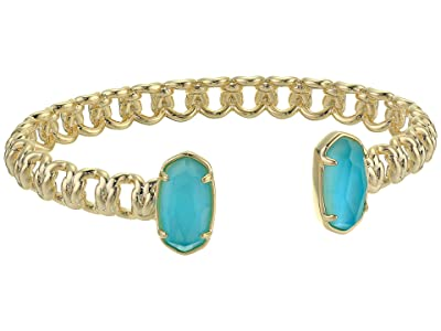 Kendra Scott Macrame Elton Cuff Bracelet (Gold/Aqua Illusion) Bracelet