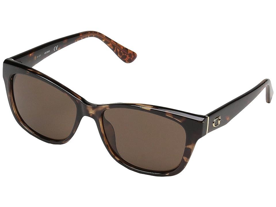 GUESS GU7538 (Dark Havana/Brown) Fashion Sunglasses