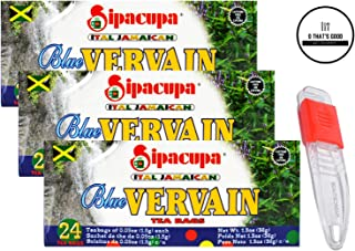 Sipacupa Blue Vervain Tea Bags Pack of 3 with Adjustable Measuring Spoon in Sealed O Datz Good Packaging (Pack of 3)