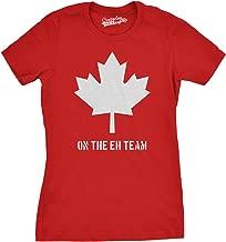 Womens Eh Team Canada T Shirt Funny Canadian Shirts Novelty T Shirt Hilarious
