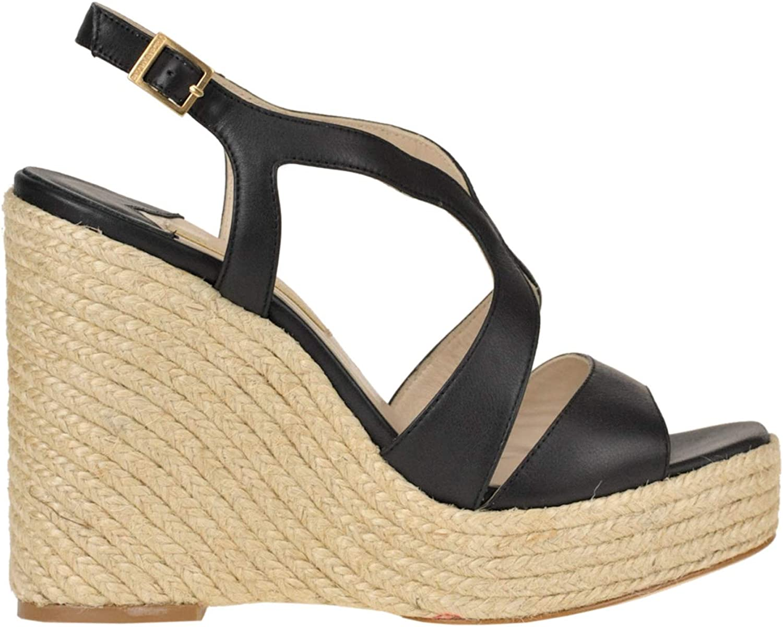 Paloma Barcelò Leather Wedge Sandals Woman