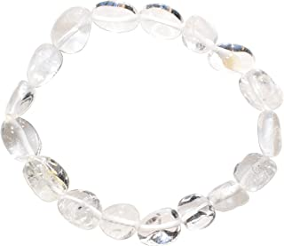 Charged Amplifier Clear Quartz Crystal Bracelet Tumble Polished Stretchy (Amplify Body & Thought Energy - Increase Healing Energy- The Stone of Power) [Reiki] by ZENERGY GEMS