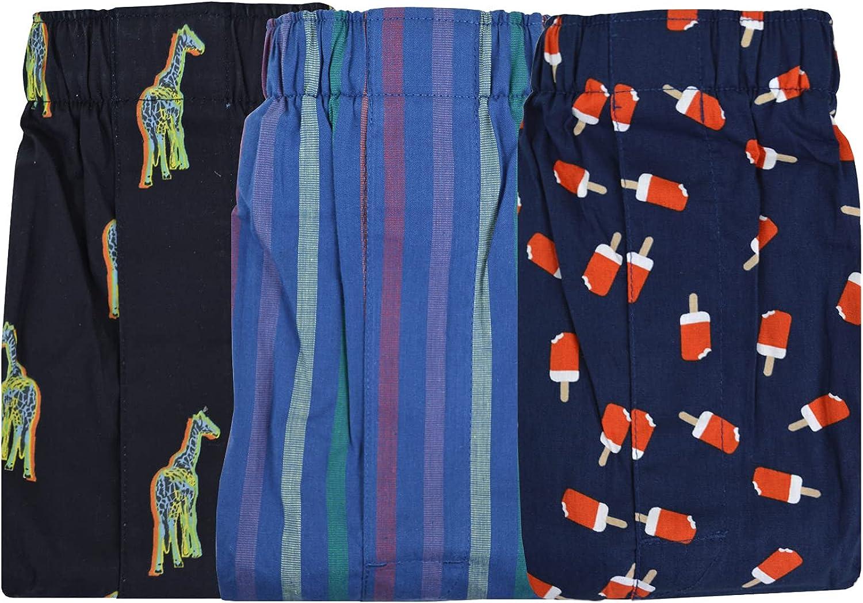 Banana Republic Mens 100% Cotton 3 Boxers gift Elastic Pack Waistband Cheap