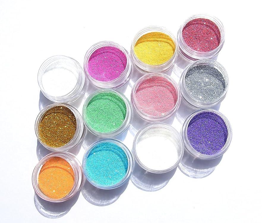 ブレースグリーンバック敬【jewel】厳選12色 超微粒子ラメパウダー(グリッター)256/1サイズ 各2g入り