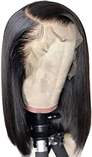 Short Blunt Cut Bob Wig Straight Lace Front Human Hair Wigs For Black Women Pre Plucked With Baby Hair Peruvian Remy Wig,12inches