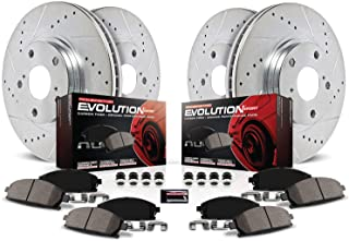 Power Stop K2813 Front & Rear Brake Kit with Drilled/Slotted Brake Rotors and Z23 Evolution Ceramic Brake Pads