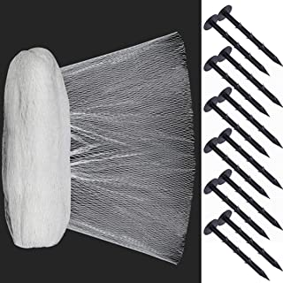 Coolrunner Pond Netting Kit, 16.4 X 16.4 FT Pool Protective Cover Netting, Pond Skimmer Net, Koi Pond Cover Dense Fine Woven Mesh Heavy Duty Stretch Pool Net from Leaves - 12 Stakes Included