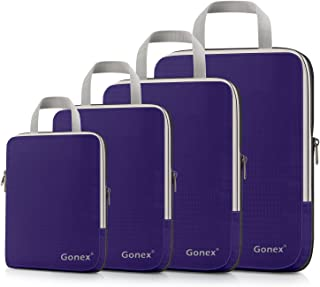 Gonex Extensible Packing Cubes 4 sets (Purple)