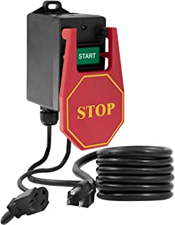 Fulton 110V Single Phase On/Off Switch with Large Stop Sign Paddle For Easy Visibility and Contact For Quick Power Downs Ideal for Router Tables Table Saws and other Small Machinery