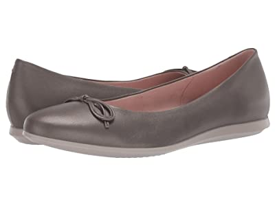 ECCO Touch Ballerina 2.0 (Stone Metellic Sheep Leather) Women
