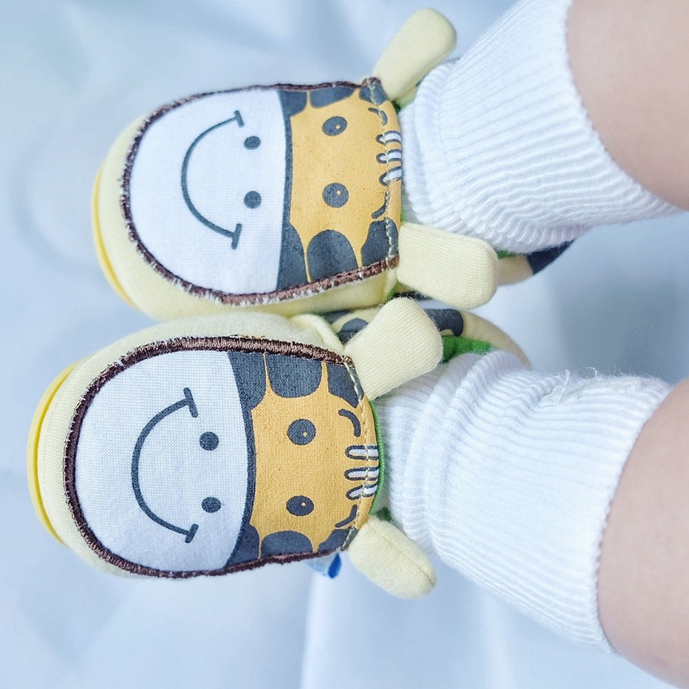 0-6 Months Infant, 2 Blue Puppy Lidiano Baby Non Slip Rubber Sole Cartoon Walking Slippers Crib Shoes Infant//Toddler