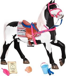 Our Generation Horse - Black & White Paint