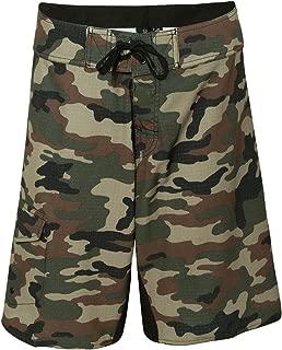 Mens Camo-Diamond Dobby Board Shorts-B9371