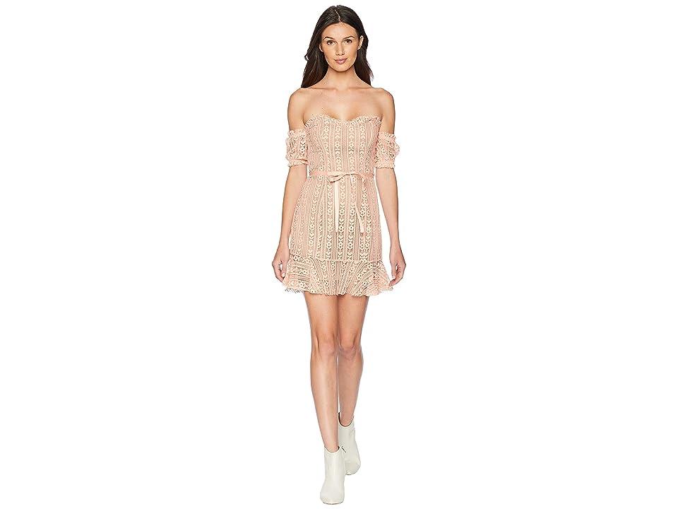 For Love and Lemons Dakota Mini Dress (Peach) Women