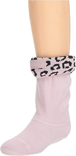 Snow Leopard Cuff Boot Sock (Toddler/Little Kid/Big Kid)
