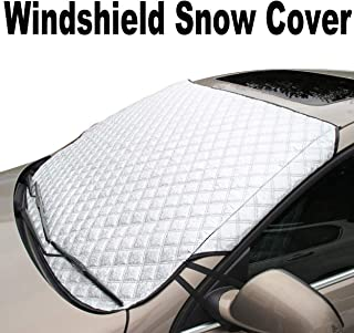 Supernova Universal Car Windshield Cover for Snow and Ice & Sun Shade Protector, Fits for Compact Cars, Sedans, Small Crossovers & Small SUVs - 56