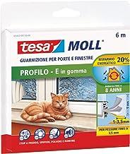 tesa 05393-00110-00 rubberen afdichting voor deuren en ramen, profiel D, wit