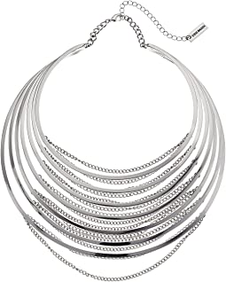 Steve Madden - Multi Row Collar with Chain Choker Necklace