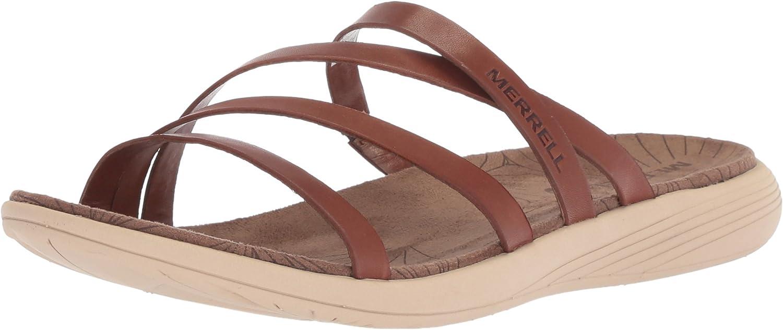 Merrell Womens Duskair Seaway Slide LTR Flat Sandals