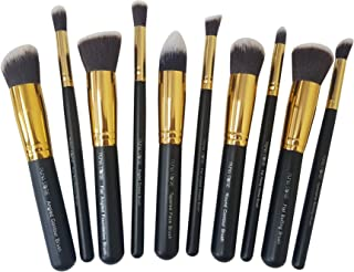 Puna Store 10 Piece Makeup Brush Set Model PS-540 (Black And Gold)