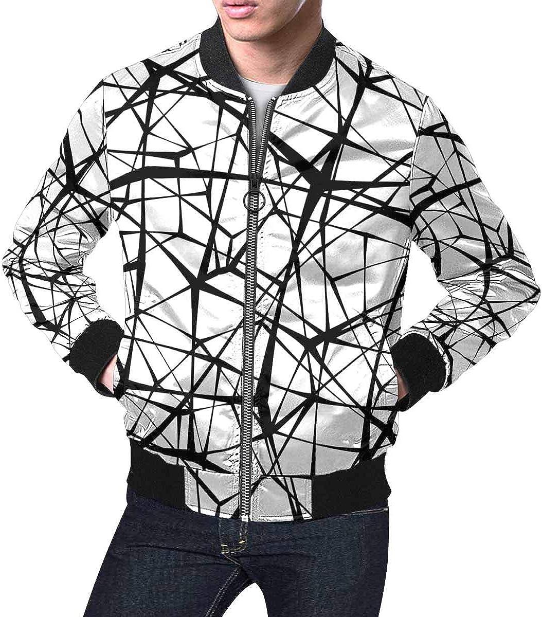 INTERESTPRINT Men's Spider Web Black Lines Jacket Classic Short Great interest Direct store