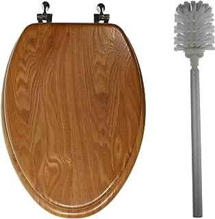 Real Wood Veneer Natural Toilet Seat - 18.5