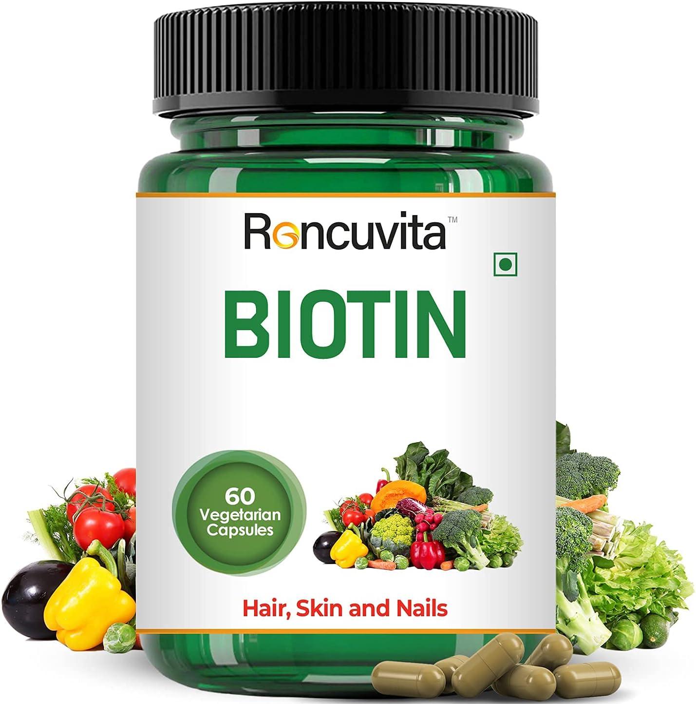 Astha Roncuvita Biotin Capsule Max 47% OFF Genuine for Healthy Nails Suppleme Skin