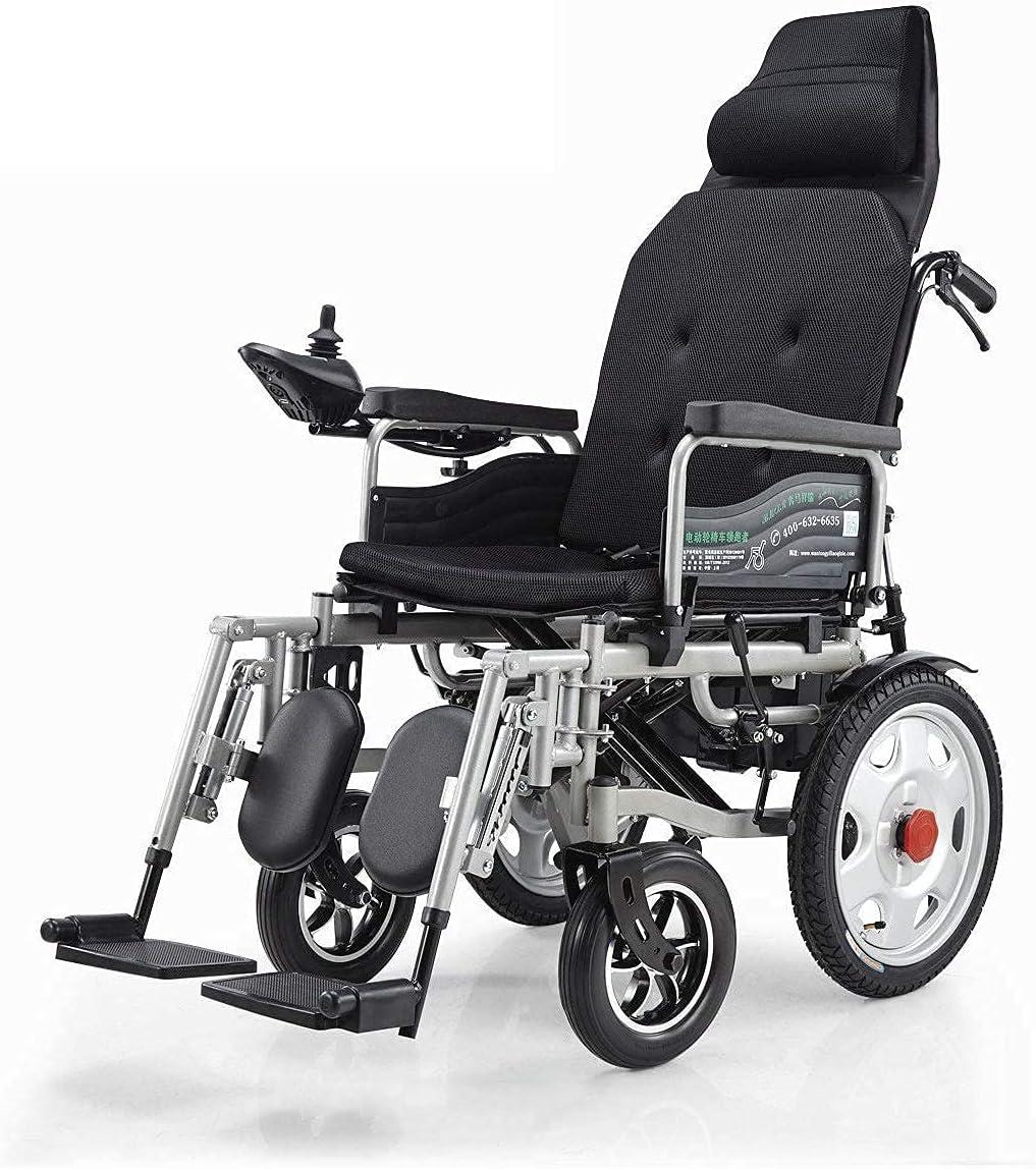 K - Silla de Ruedas eléctrica Plegable, Silla de Ruedas eléctrica Liviana, Scooter médico portátil para discapacitados y Ancianos, admite una Hermosa casa de 265 LB