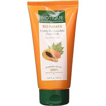 Biotique Bio Papaya Visibly Flawless Skin Face Wash For All Skin Types, 150ml