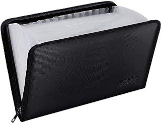 Dossier de Fichiers Ignifuges A4 Trieur 25 Compartiments Grande Capacité Organisateur,Sac de Documents,Rangement Papier Ad...