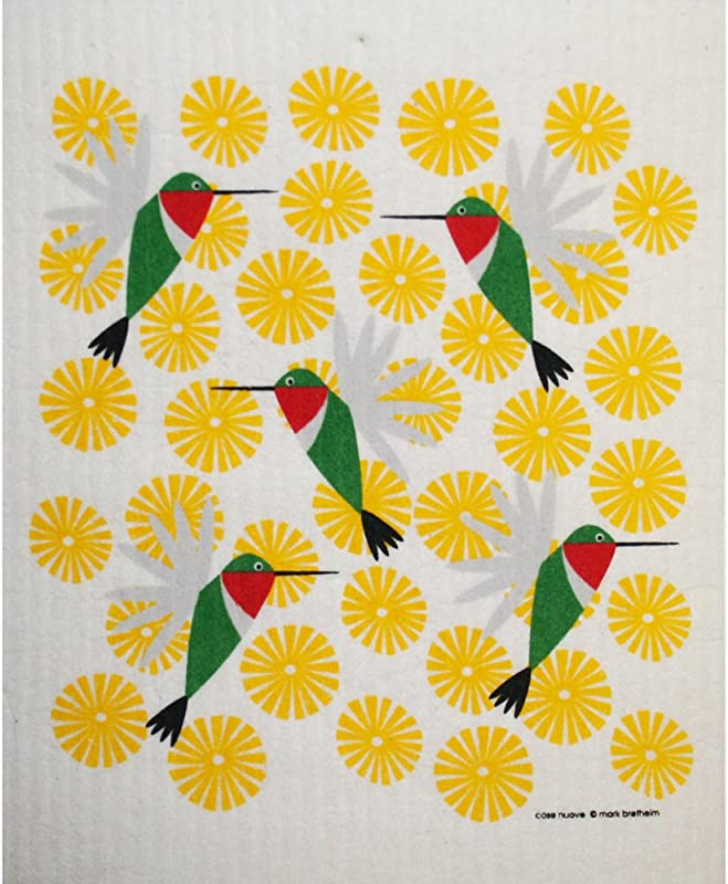 ScandinavianShoppe Swedish Dishcloth Hummingbirds