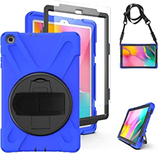 Samsung Galaxy Tab A 10.1 2019 Case T510 T515 - Heavy Duty Rugged Protective Shockproof Case with Hand Strap/Stand/Shoulde...