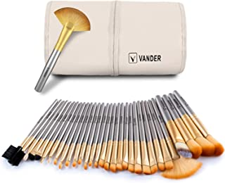 Makeup Brushes - VANDER Professional 32 Piece Makeup Brushes Set Essential Cosmetics With Bag