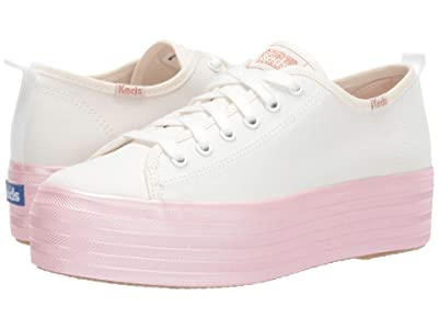 Keds Triple Up Shimmer Foxing (Cream/Rose Gold Canvas) Women