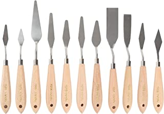 Best CONDA 11 Piece Stainless Steel Spatula Palette Knife Professional Palette Knife Painting Wood Handle Review