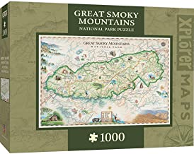 MasterPieces Xplorer Maps Jigsaw Puzzle, Great Smoky Mountains, National Park, 100% Made in USA, 1000 Pieces