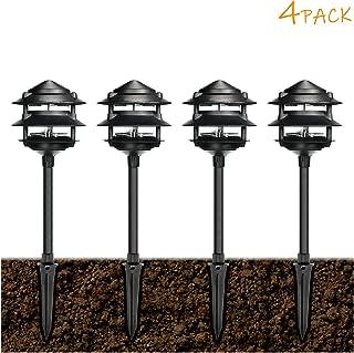 eTopLighting Oil Rubbed Black Outdoor Landscape Ground Spot Light Patio, Garden, Lawn, Path, Driveway APL1297, 4 Pack