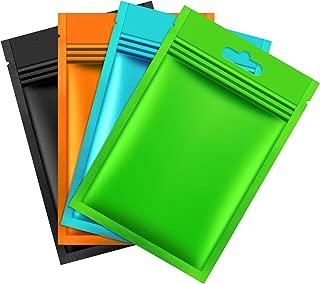 200 Pieces Mylar Zip Lock Bags Aluminum Foil Bags, Flat Metallic Mylar Foil Flat ZipLock Food Storage Bags Pouch (Multicolor)