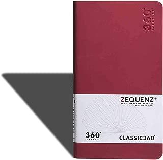 Zequenz 360 Everyday, Weekly & Monthly Planner, Diary, Undated, Soft Cover, Soft Bound, Medium, B6 Slim, 4