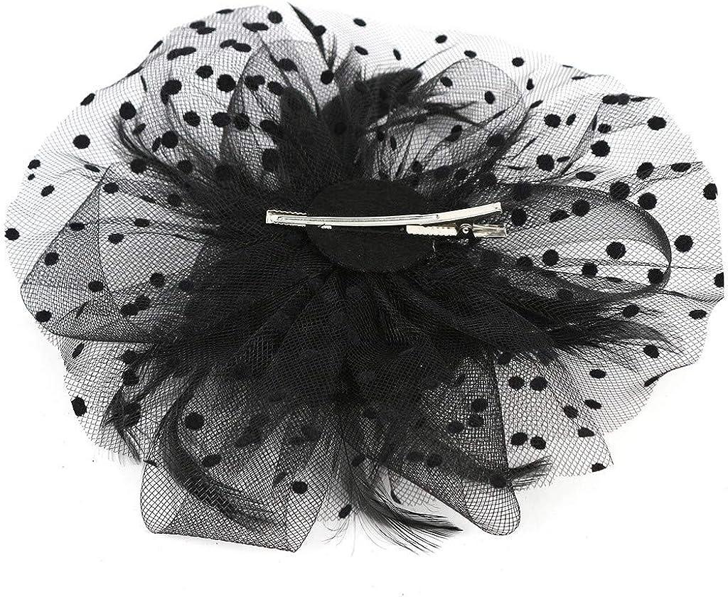 SoeHir Fascinators Hat Headband Pearl Party Bridal Headpiece