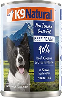 K9 Natural Canned Dog Food Perfect Grain Free, Healthy, Hypoallergenic Limited Ingredients - Made in New Zealand - BPA-Free Wet Dog Food
