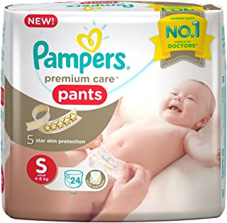 Pampers Premium Care Small Size Diaper Pants, White (24 Count)