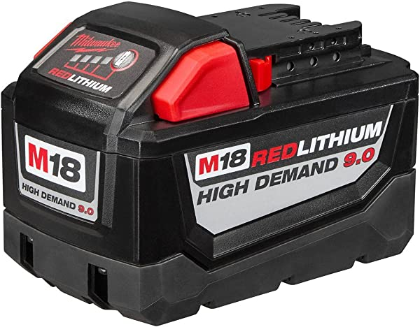Milwaukee Electric 48 11 1890 M18 18VDC Red Lithium Ion High Demand 9 0 Ah Battery Pack