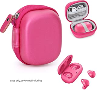 CaseSack Protective Case for Samsung Gear IconX (2018 Edition) Bluetooth Cord-Free Fitness Earbuds, Tailored Made, Compact and Light Weight, mesh Pocket for Cable (Pink)